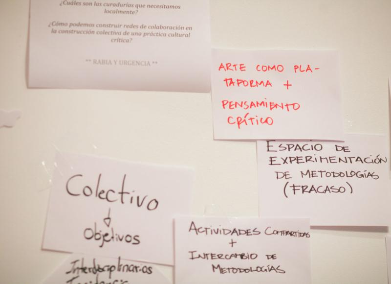 Taller Mapa de relaciones: Contextualizar las prácticas curatoriales.